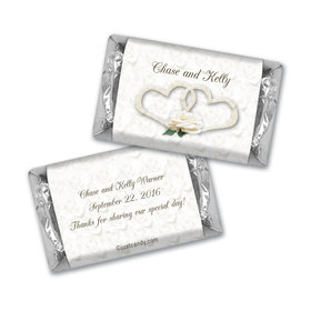 Wedding Favor Personalized Hershey's Miniatures Two Hearts Lord's Blessing