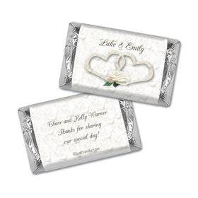 Wedding Favor Personalized Hershey's Miniatures Wrappers Two Hearts Lord's Blessing