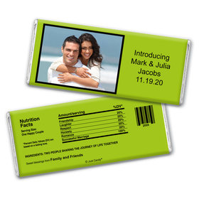 Wedding Favor Personalized Chocolate Bar Wrappers Photo & Message
