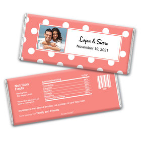 Wedding Favor Personalized Chocolate Bar Wrappers Polka Dots