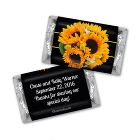 Wedding Favor Personalized Hershey's Miniatures Wrappers Sunflower Bouquet