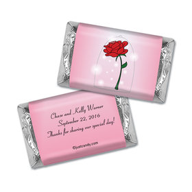 Wedding Favor Personalized Hershey's Miniatures Wrappers Beauty and Beast Rose