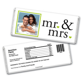 Wedding Favor Personalized Chocolate Bar Wrappers Mr & Mrs Photo