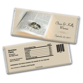 Wedding Favor Personalized Chocolate Bar Bible and Rings