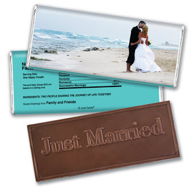 Wedding Favor Personalized Embossed Chocolate Bar Full Photo