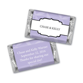 Wedding Favor Personalized Hershey's Miniatures Wrappers Flower Petal Pattern