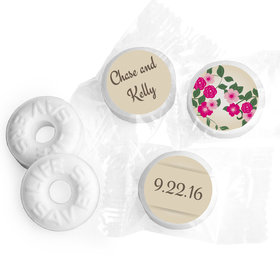 Wedding Favor Personalized Life Savers Mints Boho Wedding Flowers