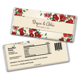 Wedding Favor Personalized Chocolate Bar Wrappers Boho Wedding Flowers