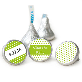 Wedding Favor Personalized Hershey's Kisses Small Polka Dots Assembled Kisses (50 Pack)