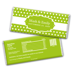 Wedding Favor Personalized Chocolate Bar Wrappers Small Polka Dots
