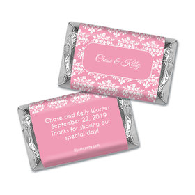 Wedding Favor Personalized Hershey's Miniatures Wrappers Floral Lattice