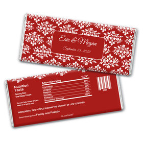 Wedding Favor Personalized Chocolate Bar Wrappers Floral Lattice