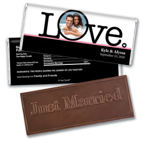 Wedding Favor Personalized Embossed Chocolate Bar Big Love Photo Cameo