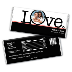 Wedding Favor Personalized Chocolate Bar Wrappers Big Love Photo Cameo