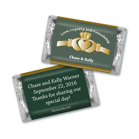 Wedding Favor Personalized Hershey's Miniatures Wrappers Claddagh Heart