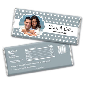 Wedding Favor Personalized Chocolate Bar Polka Dots Framed Photo