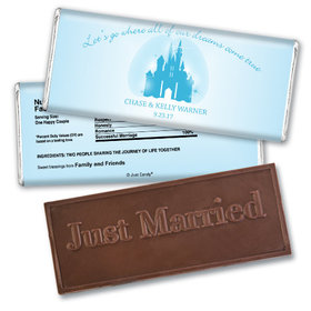 Wedding Favor Personalized Embossed Chocolate Bar Magic Kingdom Theme