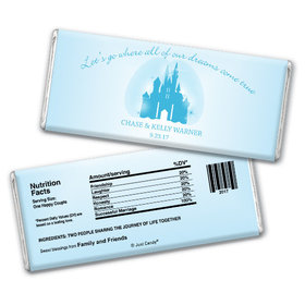 Wedding Favor Personalized Chocolate Bar Magic Kingdom Theme