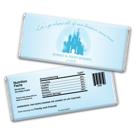 Wedding Favor Personalized Chocolate Bar Wrappers Magic Kingdom Theme