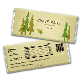 Wedding Favor Personalized Chocolate Bar Forest