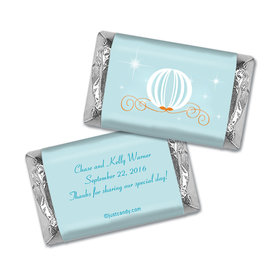 Wedding Favor Personalized Hershey's Miniatures Wrappers Cinderella Inspired Carriage
