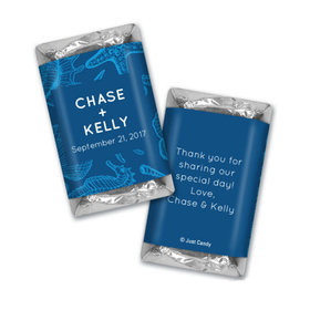 Personalized Hershey's Miniatures Wrappers Ocean Animals Wedding Favors