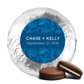 Personalized Wedding Ocean Animals Milk Chocolate Covered Oreo Cookies