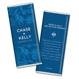 Personalized Chocolate Bar Ocean Animals Wedding Favors