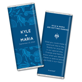 Personalized Chocolate Bar Wrappers Ocean Animals Wedding Favors