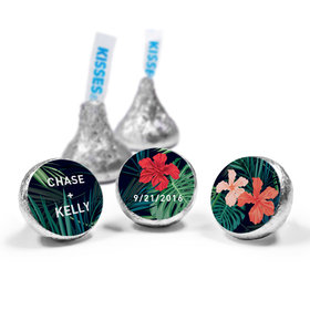 Personalized Hershey's Kisses Tropical Flowers Wedding Favors (50 Pack)
