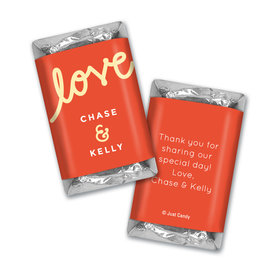 Personalized Hershey's Miniatures Script Love Wedding Favors
