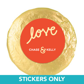 "Personalized Wedding Script Love 1.25"" Sticker (48 Stickers)"