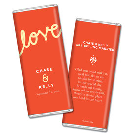 Personalized Chocolate Bar Script Love Wedding Favors