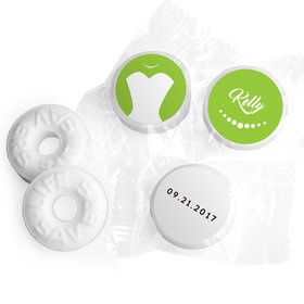 Personalized Mints Bride's Dress Wedding Favors