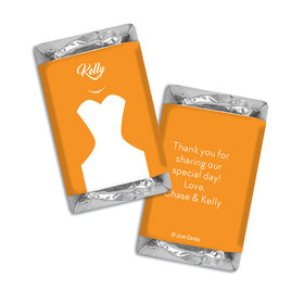 Personalized Hershey's Miniatures Bride's Dress Wedding Favors