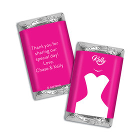 Personalized Hershey's Miniatures Wrappers Bride's Dress Wedding Favors