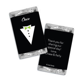 Personalized Hershey's Miniatures Groom's Tuxedo Wedding Favors