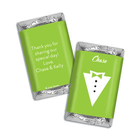 Personalized Hershey's Miniatures Wrappers Groom's Tuxedo Wedding Favors
