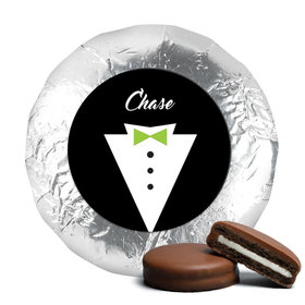 Personalized Wedding Groom's Tuxedo Milk Chocolate Covered Oreo Cookies