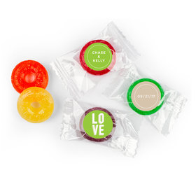 Personalized 5 Flavor Hard Candy Bold Love Wedding Favors