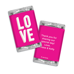 Personalized Hershey's Miniatures Bold Love Wedding Favors
