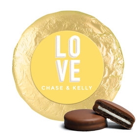 Personalized Wedding Bold Love Milk Chocolate Covered Oreo Cookies