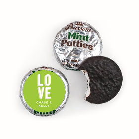 Personalized Wedding Bold Love Pearsons Mint Patties
