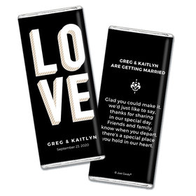 Personalized Chocolate Bar Wrappers Bold Love Wedding Favors