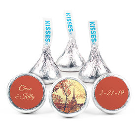 Personalized Hershey's Kisses Paris in the Fall Wedding Favors (50 Pack)