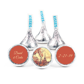 """Personalized 3/4"""" Sticker Paris in the Fall Wedding Favors"""