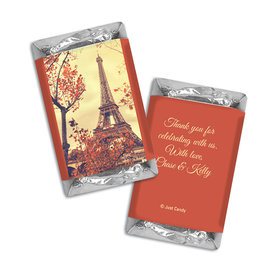 Personalized Hershey's Miniatures Paris in the Fall Wedding Favors