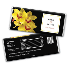 Personalized Chocolate Bar Wrappers Yellow Flower Wedding Favors