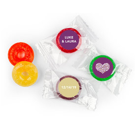 Personalized 5 Flavor Hard Candy Heart of Life Wedding Favors