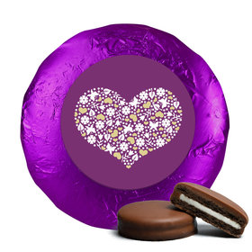 Wedding Heart of Life Milk Chocolate Covered Oreo Cookies with Purple Foil